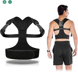 ELEPOESTAR Corrector de Postura Espalda y Hombros, Espalda Recta Soporte Aliviar Dolor para Cinturón y Espalda, Cinturón Ajustable, Enderezador de Espalda Transpirable para Hombre y Mujer