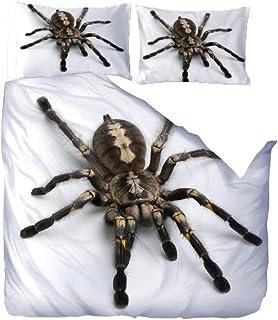 comprar comparacion WPHRL Ropa de Cama 3D Imprimiendo Funda nórdica Animal, araña Conjunto de 3 Piezas Niño niña Ligero Poliéster Suave Transp...