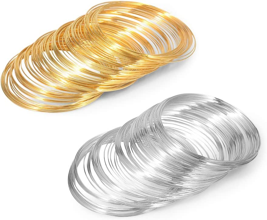 LEONTOOL Complete Free Shipping 200 Loop Max 74% OFF Memory Wire Gold Bracelet Me Silver for Making