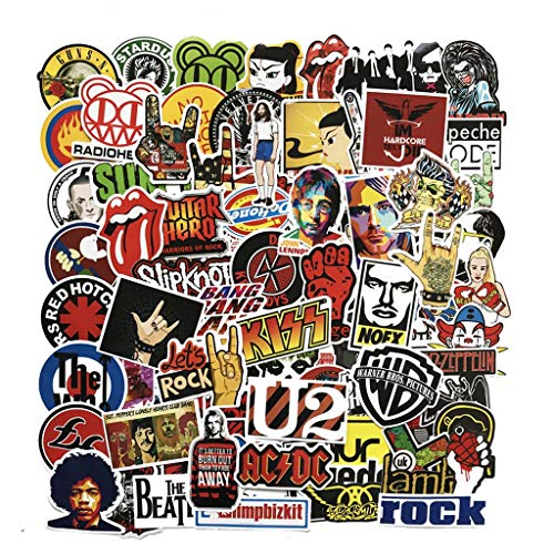 Me Klassische Famous Rock Band-Musik-Aufkleber Green Days Nirvana DIY wasserdichte Abziehbilder Für Gitarre Koffer Skateboard 112Pcs