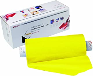 """Dycem Bulk Roll Matting, 8"""" x 10 yd. Roll, Yellow, Non-Slip Material Helps Improve Stabilization & Gripping, Holds Plates..."""