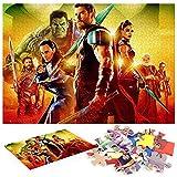 Thor Ragnarok Puzzle 1000 Piezas Juego De Habilidad De Juego De ColocacióN para Toda La Familia Juego De Rompecabezas