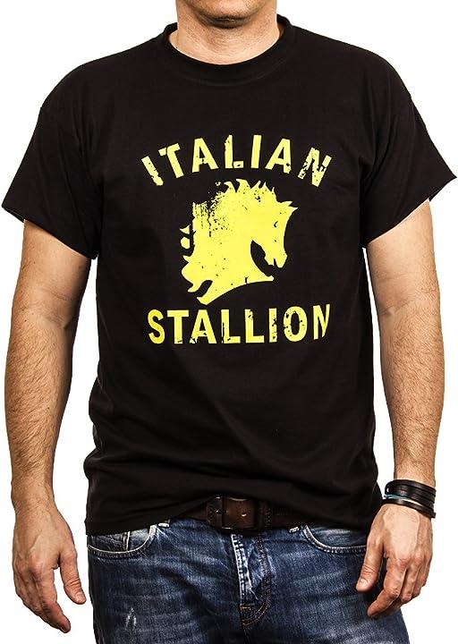 Maglietta italian stallion - rocky balboa t-shirt uomo italian stallion - sylvester stallone - makaya