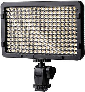 LTPAG Luz de Video LED Luz de Panel de Cámara Regulable Ultra Brillante 176 LED Portátil para Canon Nikon Pentax Panasonic Sony Samsung Olympus y Todas Las Cámaras DSLR