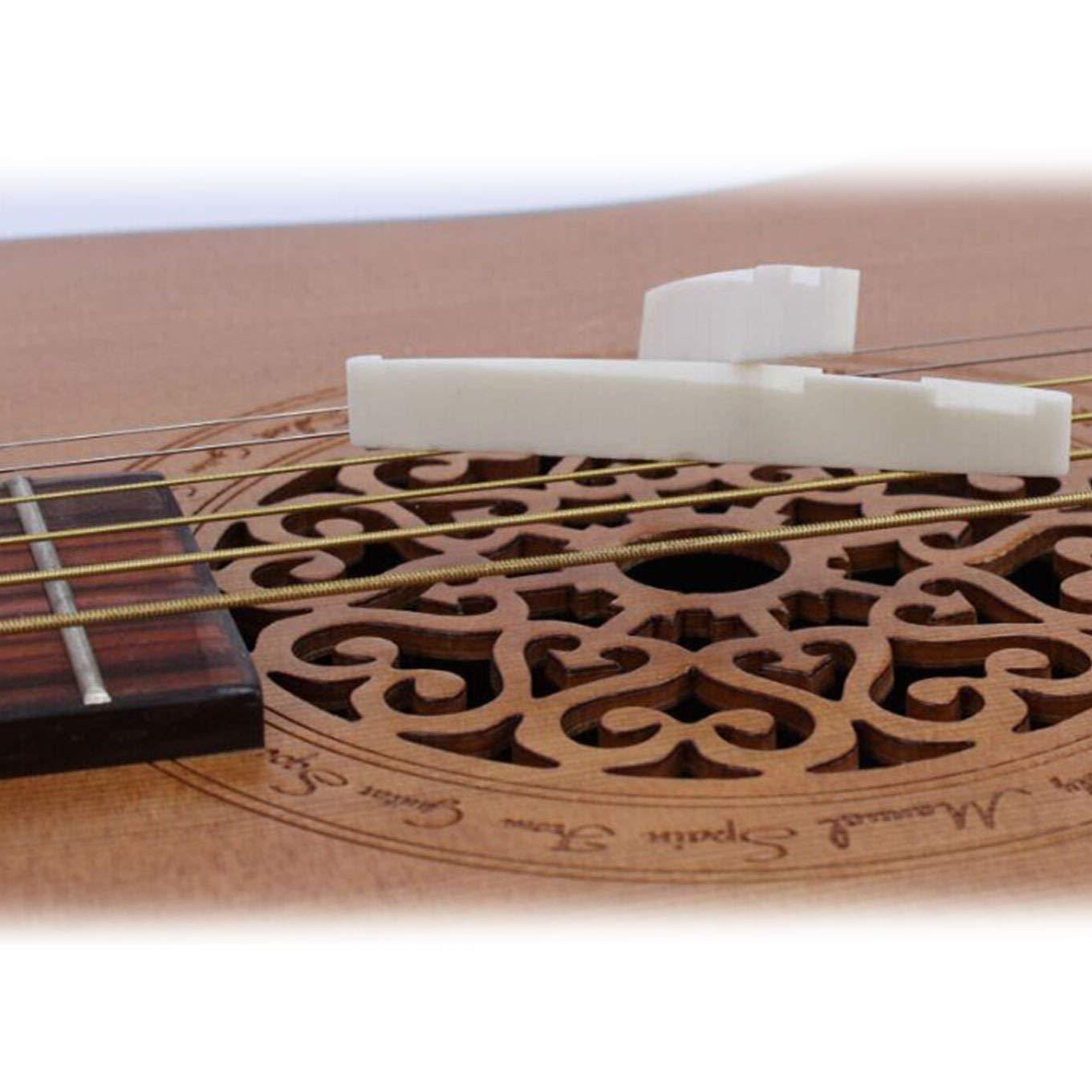 Xrten Puente de Hueso para Puente de Guitarra clásica de 6 Cuerdas ...