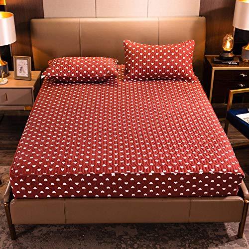 CYYyang Protector de colchón de bambú Funda de colchón y Ajustable Una Sola Pieza de sábana gruesa-10_180 * 200cm