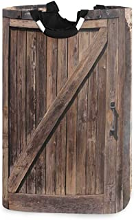 ZOMOY Grand Organiser Paniers pour Vêtements Stockage,Impression Rustique Vintage Porte vieillie Rustique,Panier à Linge e...