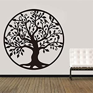 Tree of Life Wall Decoration Home Decor Living Room Bedroom Tree Silhouette Wall Decals Art Removable Vinyl Wall Sticker LL2338 (LL2338 Black, Large 22inch)
