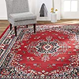 Home Dynamix Sakarya Area Rugs, 5'2'x7'4' Rectangle, Oriental Red