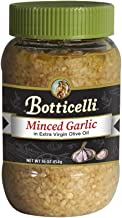 Botticelli Minced Garlic in Extra Virgin Olive Oil. Made with Garlic, Great for Sauces, Dressings and Sautéing. Imported from Italy (16oz)