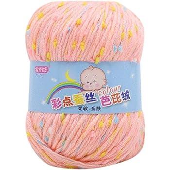 Depory - Hilo de ganchillo para tejer a mano, lana gruesa ...