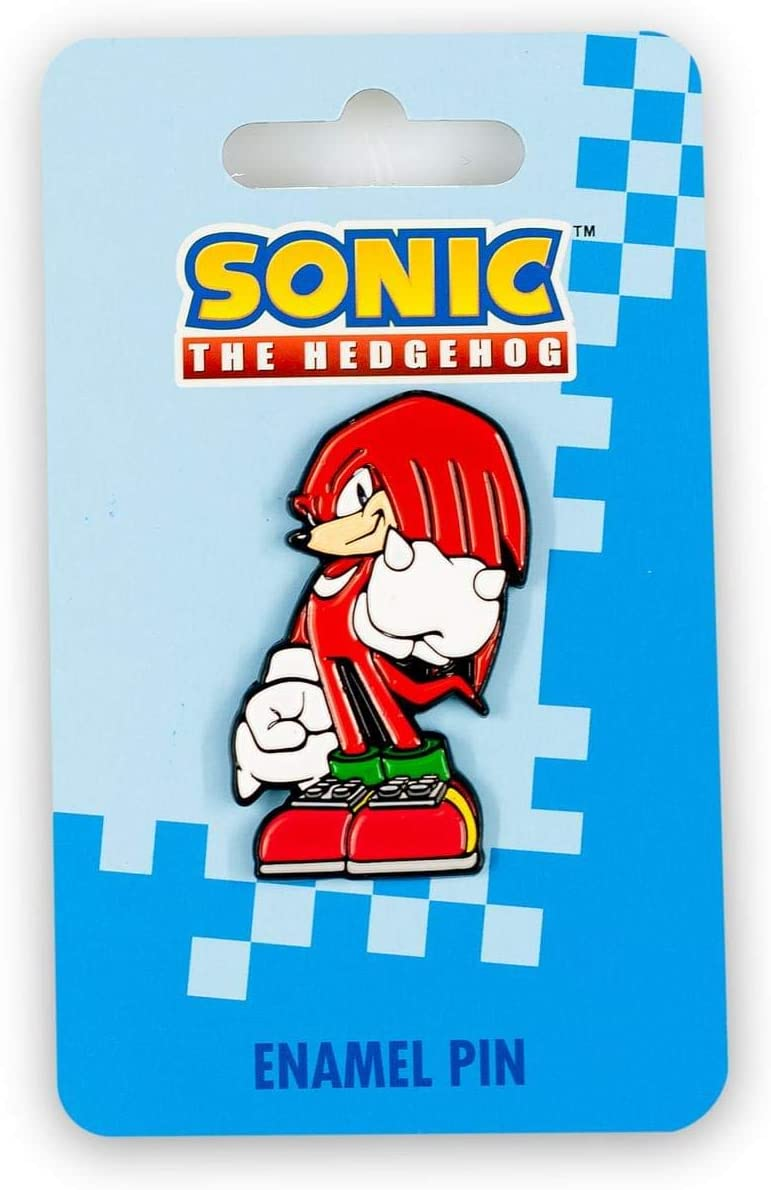 Sonic the Hedgehog Knuckles Pin   Official Sonic & Knuckles Series Collectible Enamel Pin   Small Decorative Lapel Pin