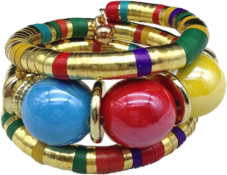 Ethnic AfricanTribal Snake Bone Stone Bead Bracelet Bangle Bohemian Adjustable Stackable Chunky Seed Bracelet for Women Men Girl Boy Teen Jewerly Valentine's Day Gift
