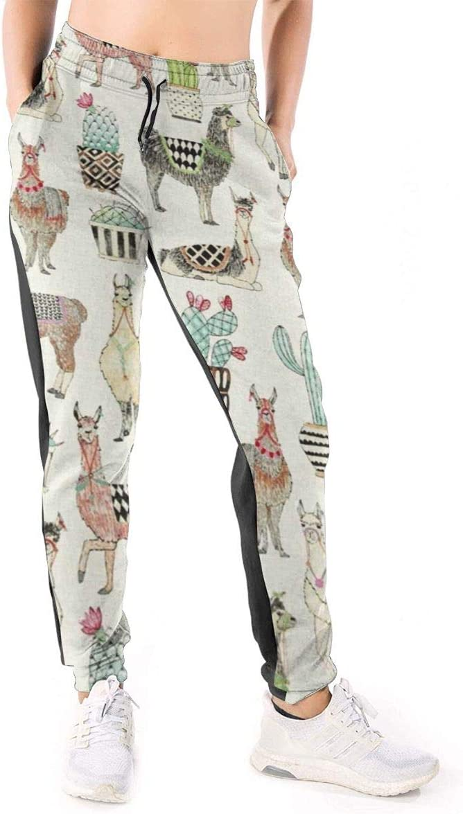 Womens 3D Print Milwaukee Mall Jogger Pants Llama with Blanket Tr Cactus Max 85% OFF Ethnic