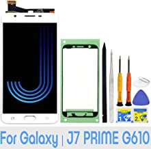LCD Screen Replacement Touch Digitizer Display Assembly for Samsung Galaxy J7 Prime G610 G6100 G610F SM-G610M/DS SM-610F/DS On7 2016 with Repair Tools and Adhesive (White)