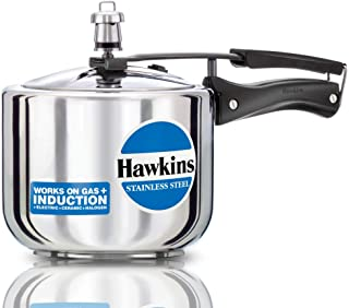 Hawkins B33 Pressure Cooker Stainless Steel, Small, Silver