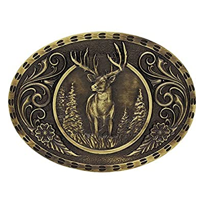 Montana Silversmith Heritage Outdoor Series Wild Stag Carved Buckle - A507C