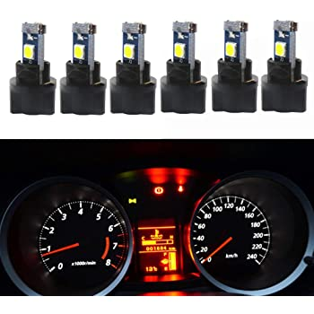 amazon com wljh 10 pack blue canbus t5 led bulb 2721 37 74 wedge lamp pc74 twist sockets dash dashboard lights instrument panel cluster leds replacement automotive wljh 10 pack blue canbus t5 led bulb