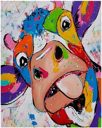 Tenwind 2 St/ücke Malen nach Zahlen Erwachsene Kit,Paint by Numbers DIY Leinwand /Öl Acryl Malerei Kit mit Pinsel f/ür Home Haus Deko Ohne Rahmen,16X20 Zoll-Szenerie bei Nacht