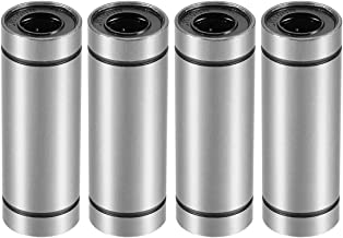 uxcell LM10UU Extra Long Linear Ball Bearings, 10mm Bore Dia, 19mm OD, 55mm Length Pack of 4