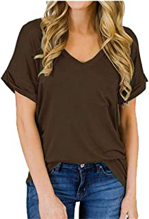 Smile Fish Women Camouflage Print V-Neck T-Shirt with Pocket