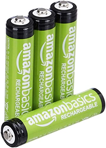 Amazon Basics Piles rechargeables AAA, pré-chargées - Lot de 4 (le visuel peut différer)