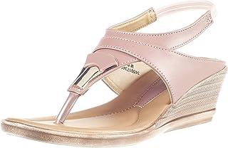 Khadims Women Pink Casual Heel Sandal