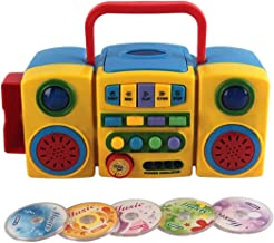 K9CK Lector CD Portátil, Infantil Reproductor Musical con Botones Grandes, Altavoz Incorporado CD y Reproductor de MP3 Educación Juguete para Niñas y Niños