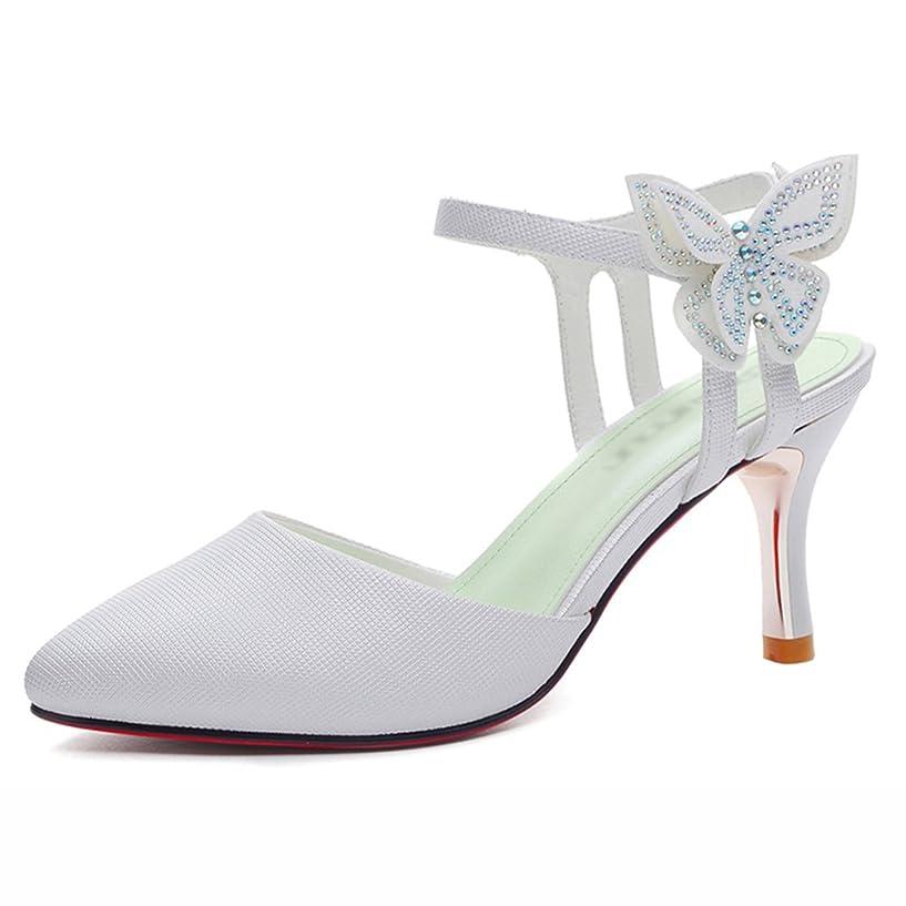 クレジット廃棄負担HWF レディースシューズ 女性の靴サンダル女性のシングルシューズ夏のハイヒール ( 色 : 白 , サイズ さいず : 40 )