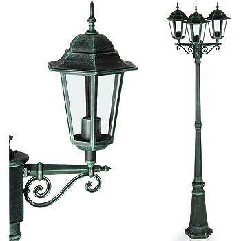 Design PIANTANA LANTERNA vialetto alluminio vetro candelabro ip44 illuminazione esterna giardino