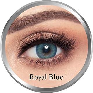 Amara Royal Blue Contact Lenses, Original Unisex Amara Cosmetic Contact Lenses, Monthly Disposable, Royal Blue (Royal Blue...
