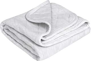 """TILLYOU Allergy-Free Quilted Cotton Baby Blanket for All Seasons, Lightweight Warm Toddler Bed Crib Blanket, Super Soft and Breathable Daycare Nap/Nursery Sleeping Blanket, Heather Gray 39""""x39"""""""