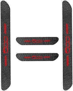 Für 500 Einstiegsleisten Schutz Aufkleber,Verschleiß vermeiden Verhindern Sie Kratzer Rutschfest Kohlefaser 4Stück Rot
