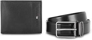 Tommy Hilfiger Black Men's Belt and Wallet Combo (TH/CHARIOT/WALL/BLT/01)