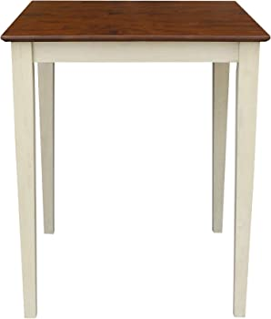 Solid Wood Counter Height Table with Shaker Legs