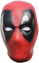Deadpool Mask Latex Costume Adult Helmet Deluxe Flexible Full Head Cosplay Accessory Props Decoration Halloween Party red