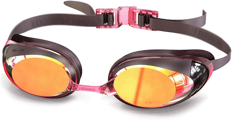 WZ スイミングメガネ休暇女性HD防曇コーティングUVプロテクション大人用スイミングメガネ スイミングフィットネス