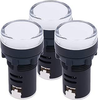 TWTADE/ 3Pcs AC/DC 110V White Energy Saving LED Indicator Light, Signal lamp, Flush Panel Mount 7/8