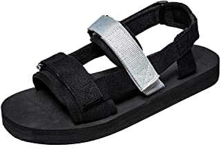 Xujw-shoes, Mens Outdoor Sandals Summer Water Beach Pool Slipper Shoes Antislip Flat Shoes Mesh Fabric Fashion Open Toe Hook&Loop Strap Two Tones Flat Round
