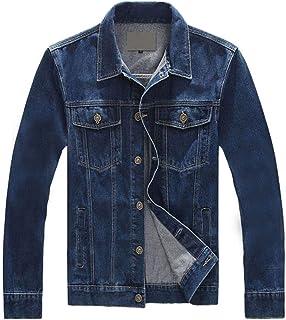 637362832a8ba INVACHI Men s Rugged Wear Denim Trucker Jacket Slim Fit Casual Jean Coat