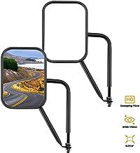 Joytutus Mirrors Doors Off for Jeep, Wide Vision Mirrors Mirrors Easy to Install Doors Off Mirror, Doorless Side Quick Release Mirror for Jeep Wrangler TJ JK JKU JL JLU JT Gladiator 1996 to 2020