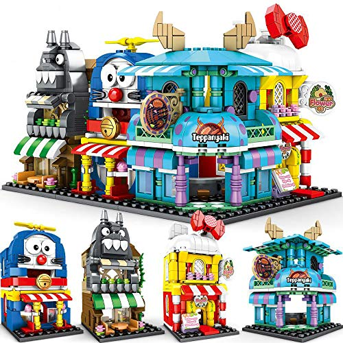 Building Blocks Disney Castle Minions Doraemon Street Scene Assembly Toy