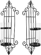 Garneck 2PCS Vela Arandela de Ferro Retro Pendurado Parede Sconce Tealight Castiçais Pilar Velas Decorativas para a Decora...