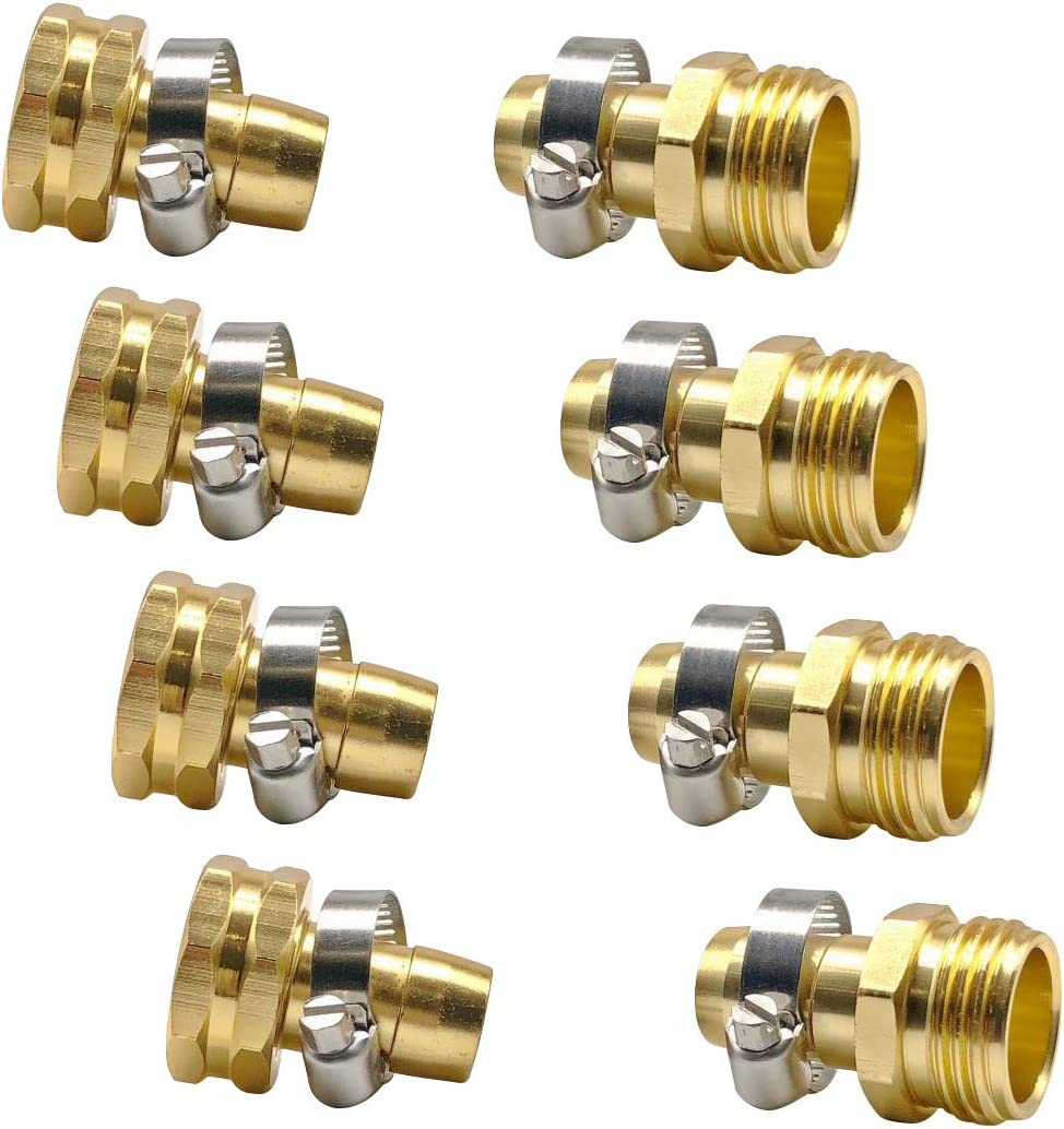 Fasmov Garden Hose Repair Be super welcome Connector shipfree Steel with Clamp Stainless