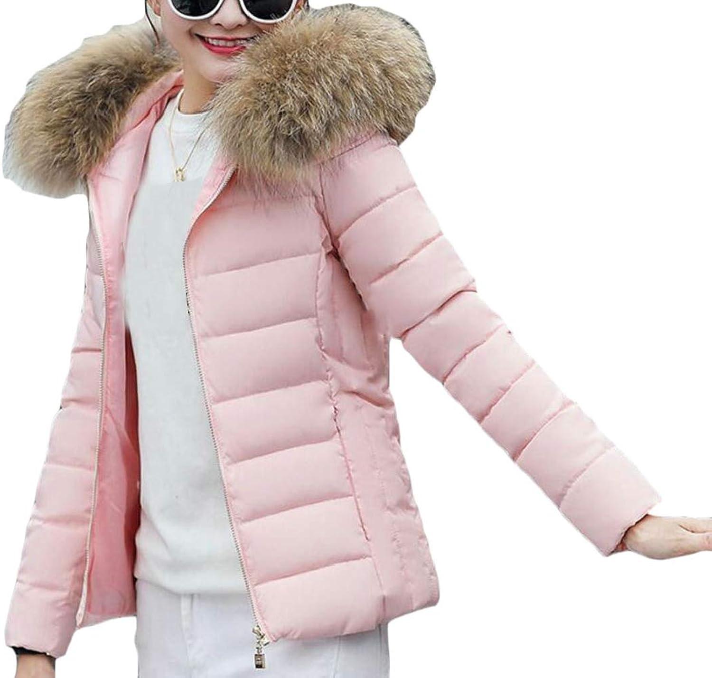 Desolateness Womens Hooded Faux Fur Winter Warm Jacket Coats Parka Overcoat
