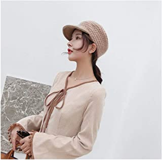 JAUROUXIYUJI New 2018 New Brand Quality Wool Felt Fedora Equestrian Knight Hat Women Floral Octagonal Concave Concave Hats Autumn (Color : Tan, Size : 56-58CM)