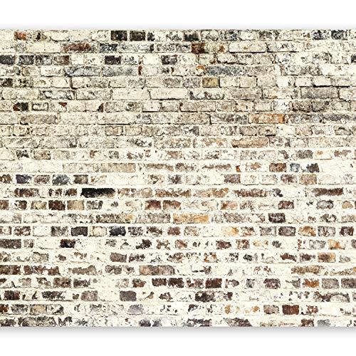 murando – Papier peint intissé 350x256 cm – Papier peint – Trompe l oeil – Tableaux muraux déco XXL – Brique f-A-0411-a-d