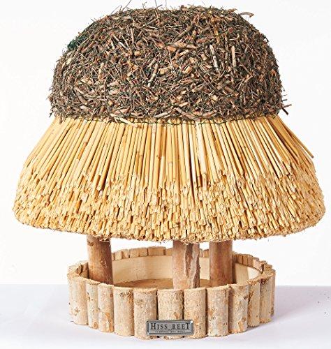 Vogelhaus SYLT mit Reetdach Futterhaus Futterstation -42 cm-traditionell eingedeckt