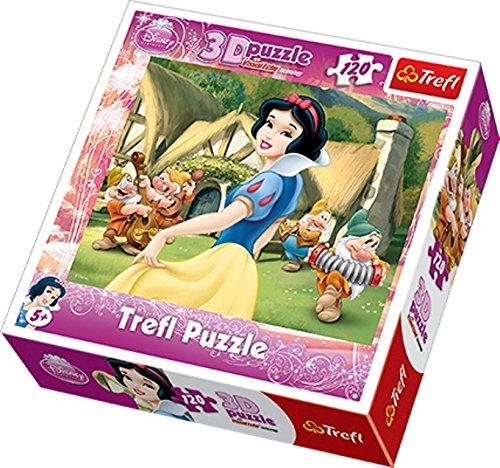 TREFL   Puzzle 3D Princesas Disney de 120 Piezas (TR35644)