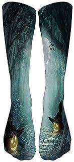 Fannyfuny Medias Mujeres Hombres Calcetines de Deporte Unisex Halloween Divertido 3D Impreso Calcetines de trabajo Deportivos Medianos al Aire Libre Fitness Correr Uso Diario
